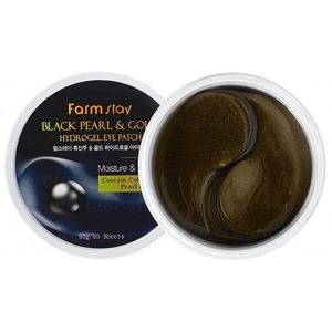 FarmStay BLACK PEARL & GOLD HYDROGEL EYE PATCH