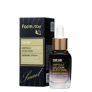 FarmStay DR-V8 Ampoule Solution Black Snail