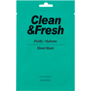 EUNYUL Clean&Fresh Purify/Hydrate Sheet Mask
