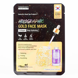 MBeauty Holographic Gold Collagen Face Mask
