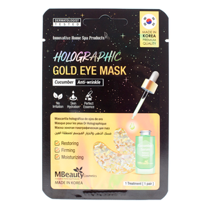 MBeauty Holographic Gold Cucumber Eye Zone Mask