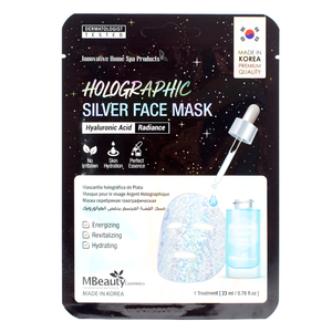 MBeauty Holographic Silver Hyaluronic Acid Face Mask