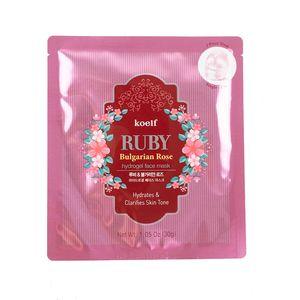 Koelf гидрогелевая маска для лица с пудрой рубина и розой