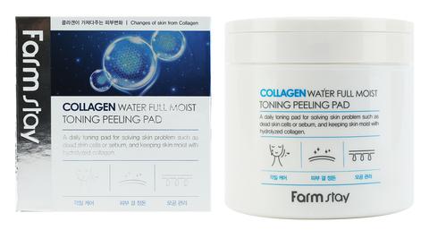 Farmstay Collagen Water Full Moist Toning Peeling Pad