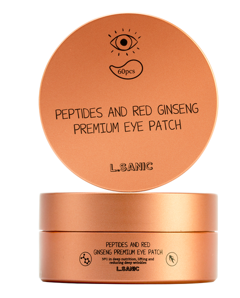 L.Sanic Peptides and  Red Ginseng Premium Eye Patch, 60 шт